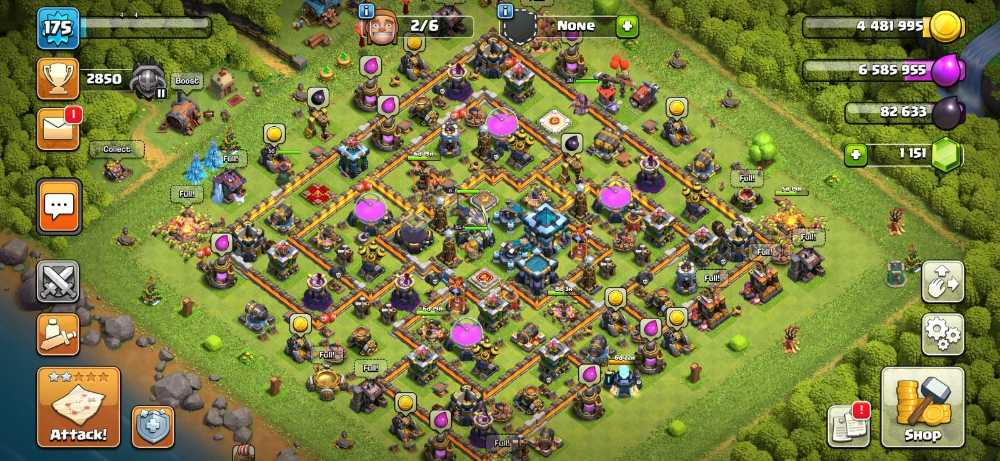 RAstore1601 || Town Hall 13 || Xp 175 || BK = 45 || AQ = 50 || GW = 39 || RC = 5 || Login Supercell ID Gmail New || For Android and IOS