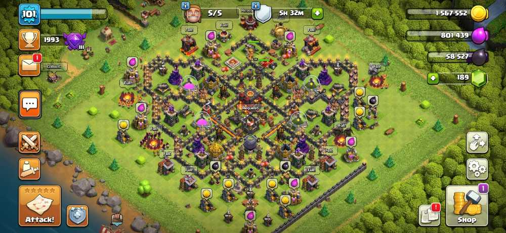 RAstore1601    Town Hall 10    Xp 101    BK = 17    AQ = 21    Login Supercell ID Gmail New    For Android and IOS