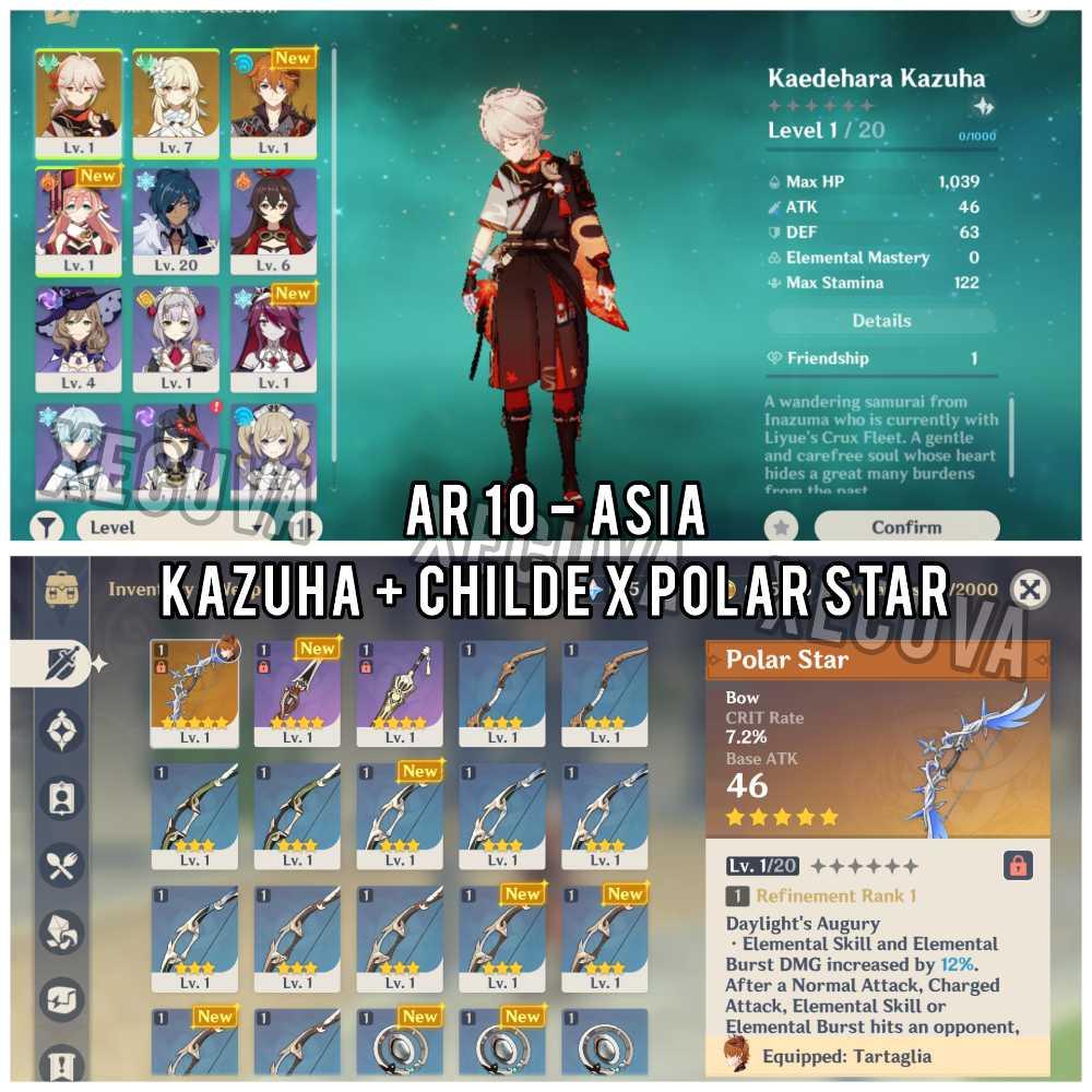 Asia AR 10 - Kazuha + Childe x Polar Star