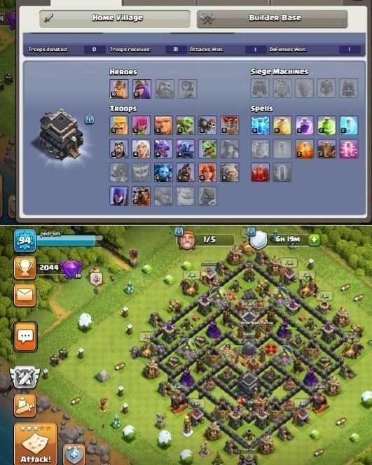 Clash of clans Th9 semi max