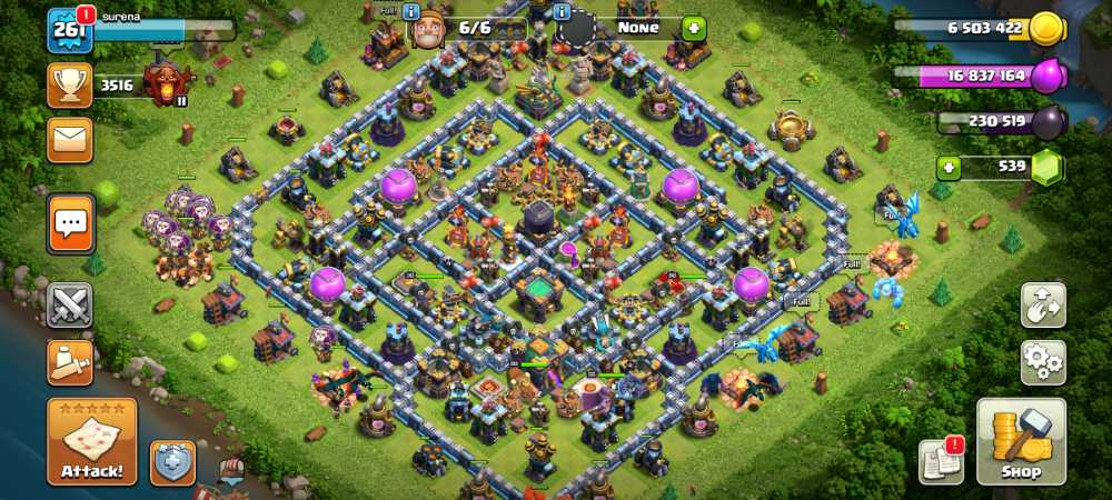 Th 14 full Max account level 261   heroes max pet's open all trophies max    bulder base full Max   a few magical items and medals   iOS and android   safe account full information