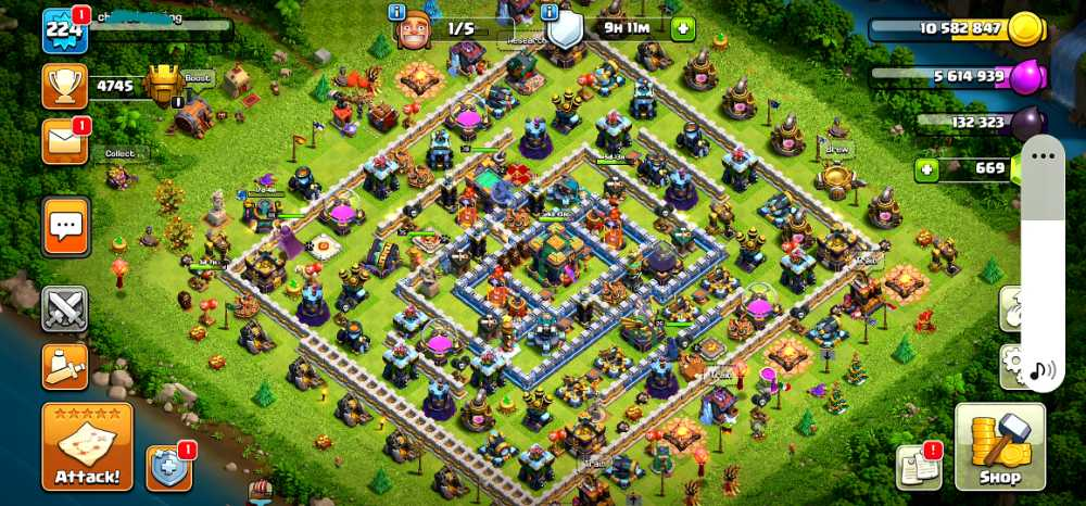TH14 LEVEL 224   HERO BK75.AQ80.GW55.RC26   PET3.2.2.1   SUPERCELL LINKED BY ME  War Stars 3500+   Base.Troops Good