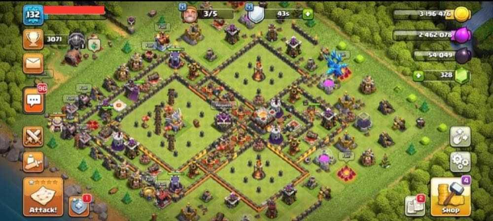 TH11 LVL132 | Heroes : BK22 AQ32 GW9 | Decent Base | Best Price