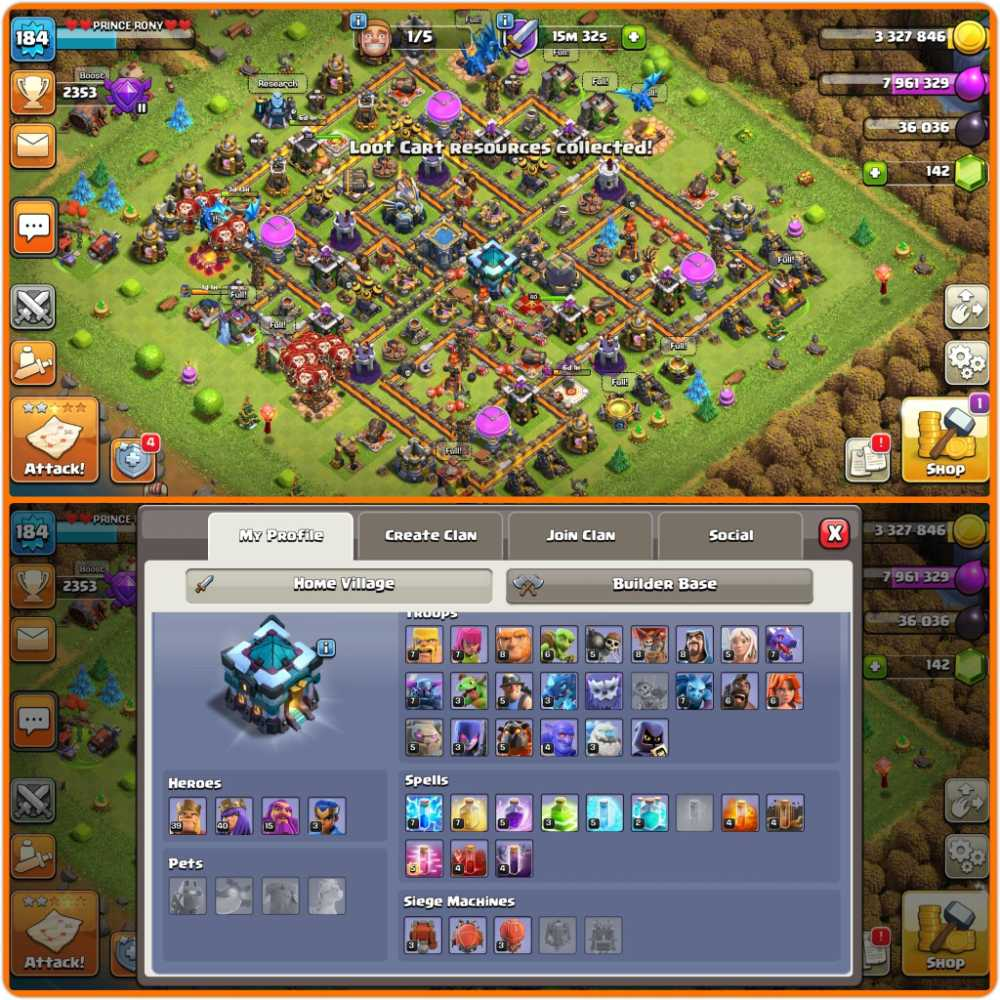 Android  Ios both   [ Th13 Semi maxed base    Good, Strong Defence    Decent troops    Good hero's    Cheap    Full email access will be provided  