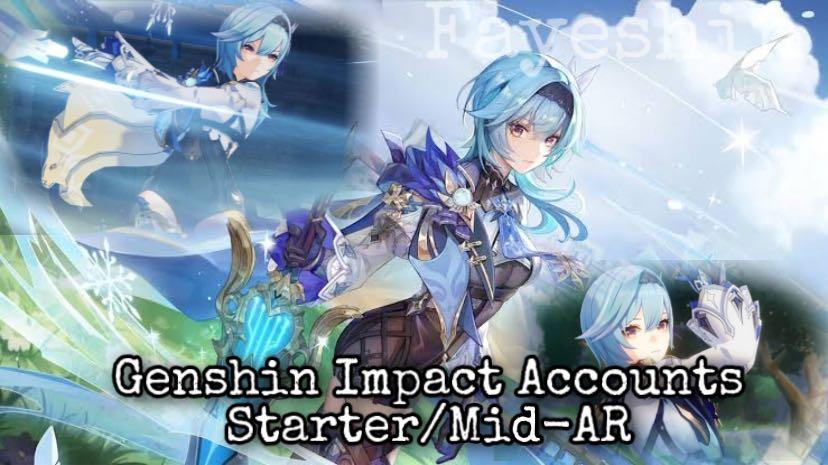Genshin Impact Accounts - Starter/Mid-AR