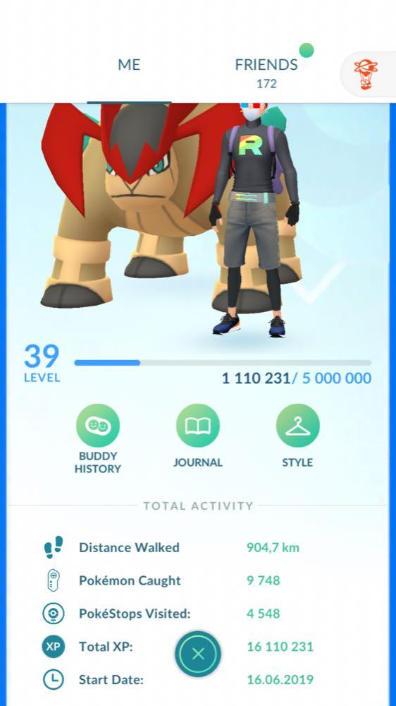 Pokemon GO lvl 39 account