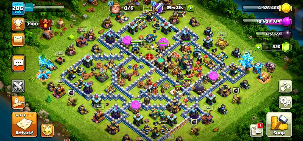 TH14 LEVEL 206 | HERO BK79.AQ79.GW55.RC25 | PET4.3.3.5| supercell linked by me | SKIN: 25 | Max Builder base.Troops | Base Good