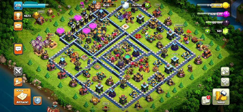 219 XP | Unlinked TH14.Will link to Your email | Max Hero | Max Builder base | PET : 8.7.3.8 | Base.troops Near Max | ios & android