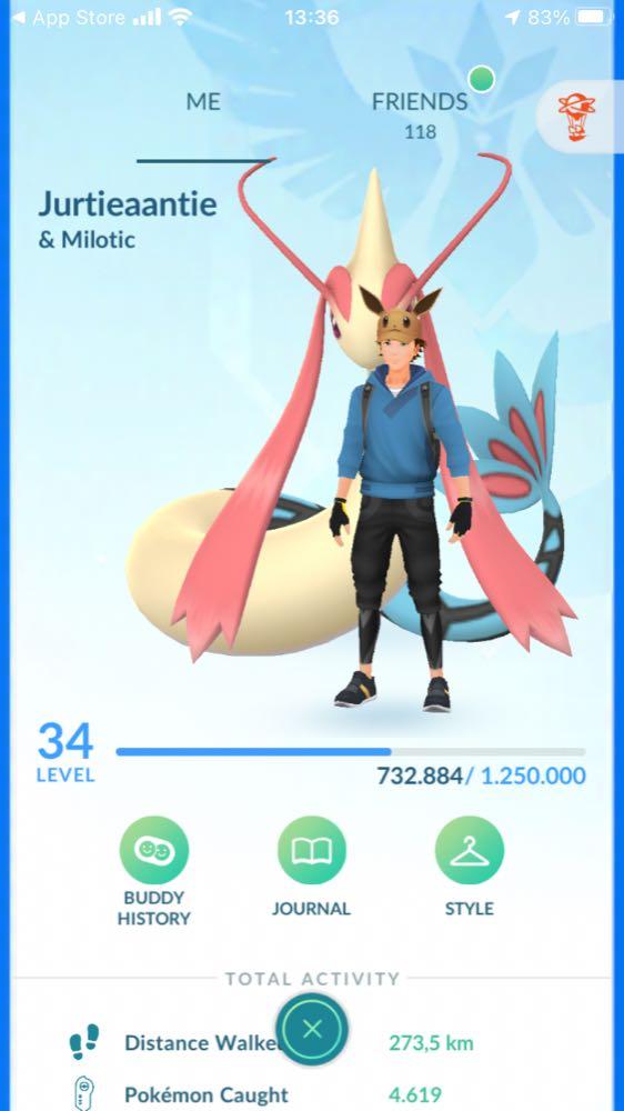 Pokemon go account level 34