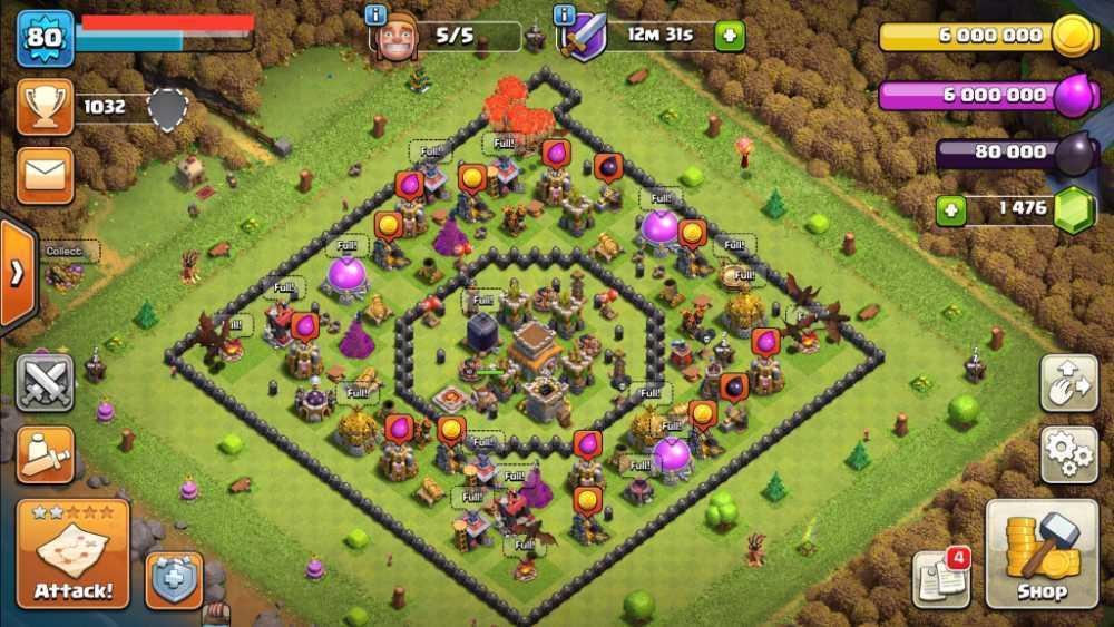 TH8 LVL80 | 100% Maxed Base | Heroes : BK10 | Gems : 1476 | Best Price