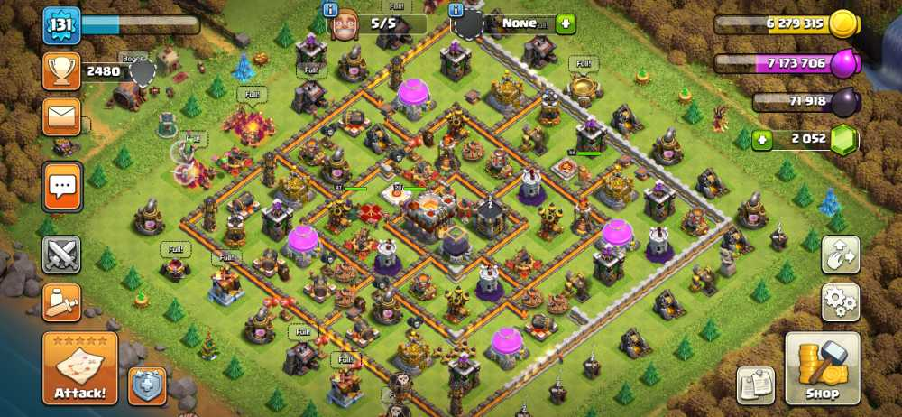 ElectroGame⚡🎮 Townhall 11 🎮 Level 131 🎮 King 44 Queen 47 Warden 20 🎮 Gems 2052 🎮 Medals 332 🎮 Magic item 🎮 Safe Account 💯🎮⚡81