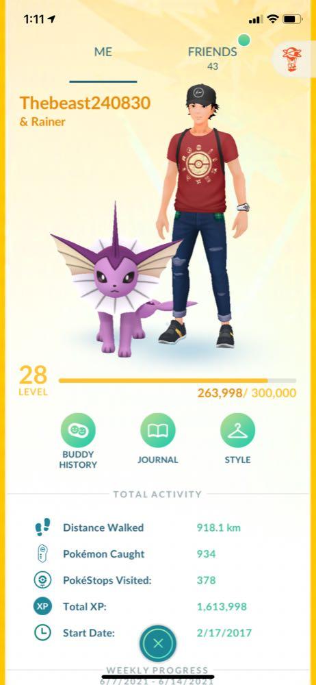 Lvl 28 Pokemon go account with alot of stuff