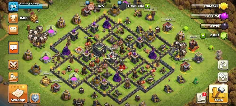 ACC 💎 Townhall 9💎 Lvl 114💎 King 23 Queen 27 💎 Gems 2087💎Android & iOS 💎 Safe Account 💯 #03