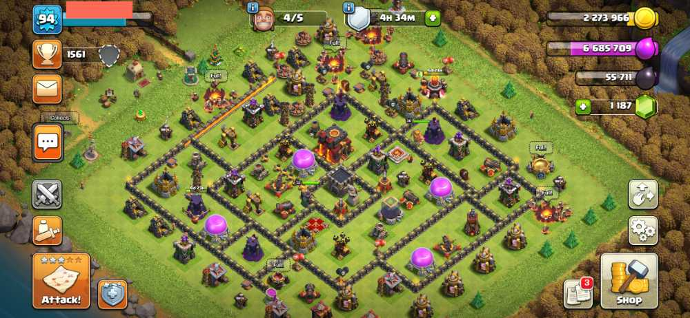 ElectroGame⚡🎮 Townhall 10 🎮 Level 94 🎮 King 30 Queen 33 🎮 Gems 1187 🎮 Medals 177 🎮 Safe Account 💯🎮⚡83