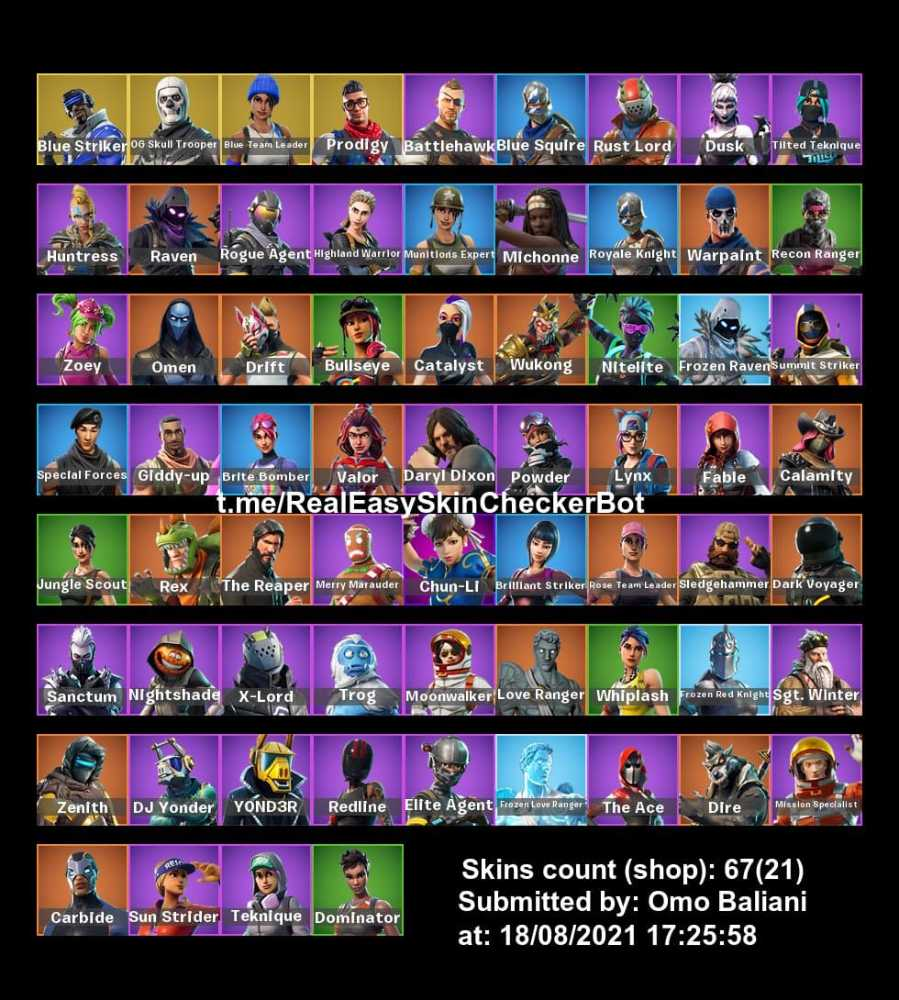 OG  Skull Trooper Account  / Blue Squire/ Royal Knight / The Reaper / Dark Voyager / Candy / Take The L / Havoc
