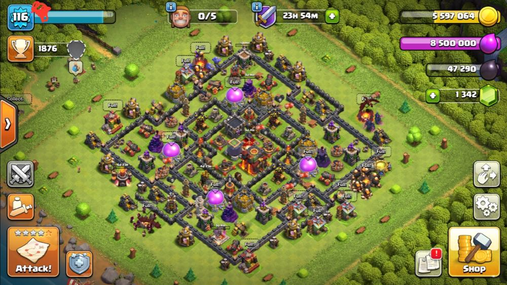 TH10 LVL116   Maxed Base   Heroes : BK25 AQ27   Free Name Change   Best Price