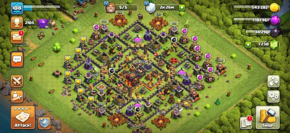 RAstore1601 || Town Hall 10 || Xp 108 || BK = 23 || AQ = 26 || Login Supercell ID Gmail New || For Android and IOS