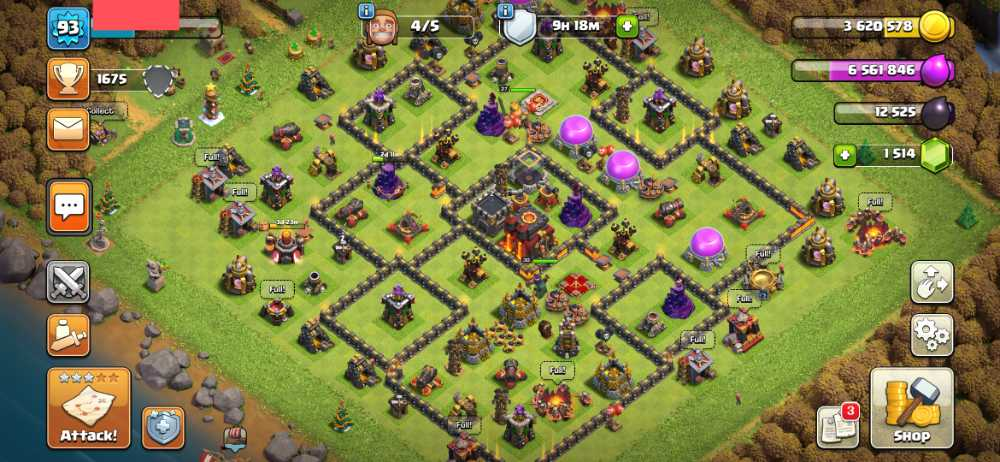 ElectroGame⚡🎮 Townhall 10 🎮 Level 93 🎮 King 27 Queen 30 🎮 Gems 1514 🎮 Medals 329🎮 Magic item 🎮  Safe Account 💯🎮⚡85